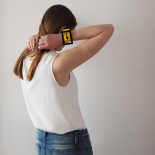 Original Yellow And Black Vinyl Cuff Eden Pop