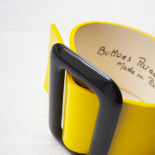 Yellow and Black Eden Leather Cuff