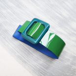 Green and Blue Eden Mini Vinyl Cuff Bracelet