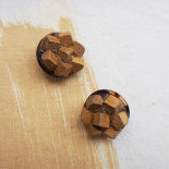 Haute Couture Pine Wood Sewing Button 24mm