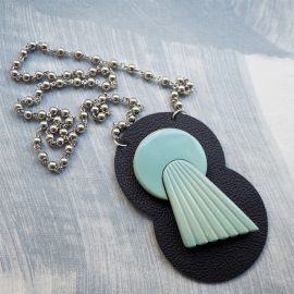 Original Comet Pale Blue Necklace