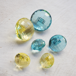 Round Blue Resin Diamond Button 23-28mm