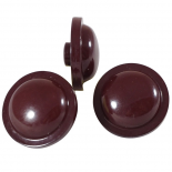 Bouton Bois Bal Rouge 22mm