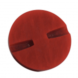 Chiseled Red Button 35mm