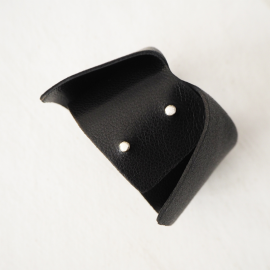Design Leather Cuff Black Gray Dolce Vita