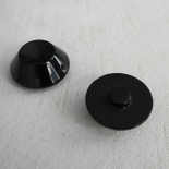 Conical Resin Button Black Muse 24 mm