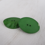 Wood Button Green Sprout Leaf 54 mm