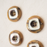Luxury Resin and Mother of Pearl Button Duet 27mm