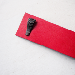 Red Leather Ribbon Cuff