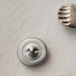 Chic Silver Metal Button Flo 27mm