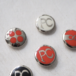 Button Design 70s Look 27mm
