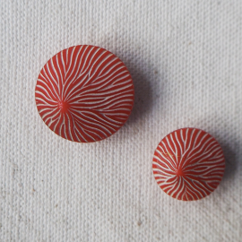 Trendy Red Round Button 13-18mm Lili