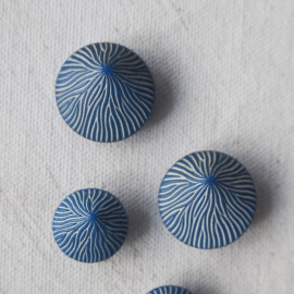 Fashion Button Lili Blue 13-18mm