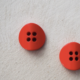 Top Coat Resin Button Red 25mm