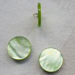 Jewel Button Mother of Pearl Spring Green 20mm