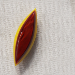 Jewelry Brooch Eden Red Yellow Bohème