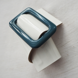 White Blue Design Leather Cuff Eden