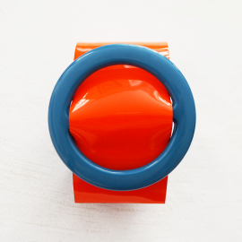 Vinyl Leather Bracelet Eden C Orange