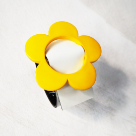 Daisy Yellow Leather Bracelet Eden Maggie