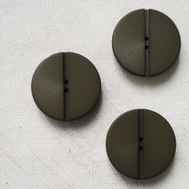 Fashion Button Minimalist Green Khaki 31mm