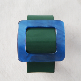 Green Blue Design Leather Bracelet Eden C