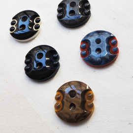 Design Button Set Black Blue Red Neo 32mm