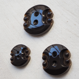 Design Button Set Coffee Brown Neo 21-27-32mm