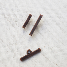 Button Resin Fine Stem Metal Copper 16mm