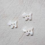 Doggy mother-of-pearl button 13mm