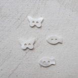 Bouton Nacre Butterfly 13mm