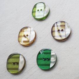 Stunning Button Set Green Bolide 27mm