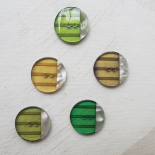 Beautiful Button Set Green Bolide 27mm