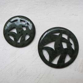 Round Button Green China 38-50mm