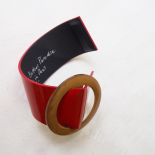 Design Leather Cuff Bracelet Eden R Red