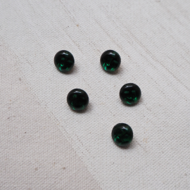 Fashion Buttons Pearl Green Glass Larch 8mm