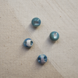 Sky Blue Mother of Pearl Pearl Buttons 10mm