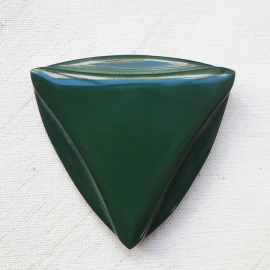 Beautiful Art Deco Button Green Triangle Solo 57mm