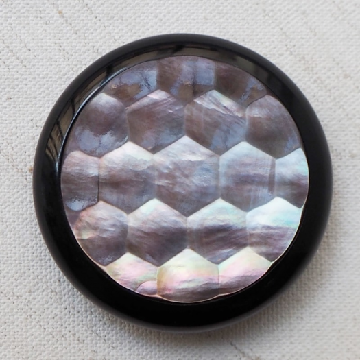 Large Faceted Mother of Pearl Design Button 43mm