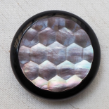 Large Faceted Mother of Pearl Design Button 44mm