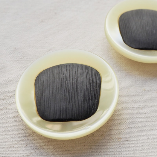 Large Jewelry Buttons Beige Gray 45mm