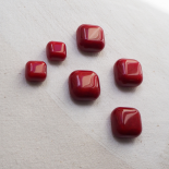 Fashion Button Square Cherry Red 15-23mm