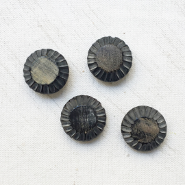 Flower Ram Horn Buttons 22mm