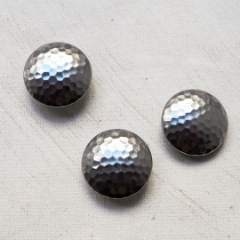 Design Buttons Metal Silver 28mm Clac