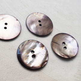 Beautiful MOP Button Pure Gray Pink 45mm