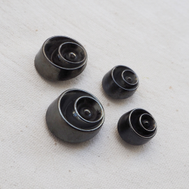 Charm Button Silver Gray Satellite 15-23mm