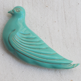 Blue Dove Bird Button 28-72mm