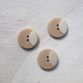 Beige Rosé Button Original Seventies 18mm