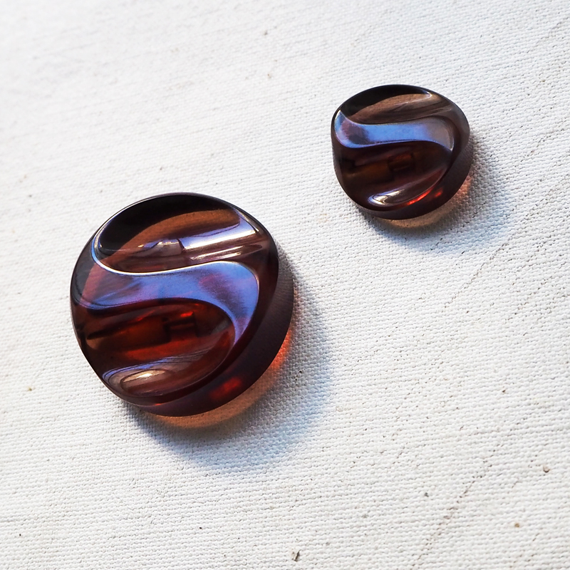 COPPER BROWN SQUARE COAT BUTTONS  25mm 34mm