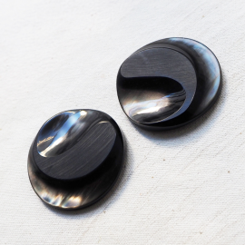 Large Design Black Luxury Button 45mm