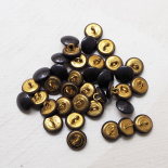 Design Buttons Brown 15mm Country Chic